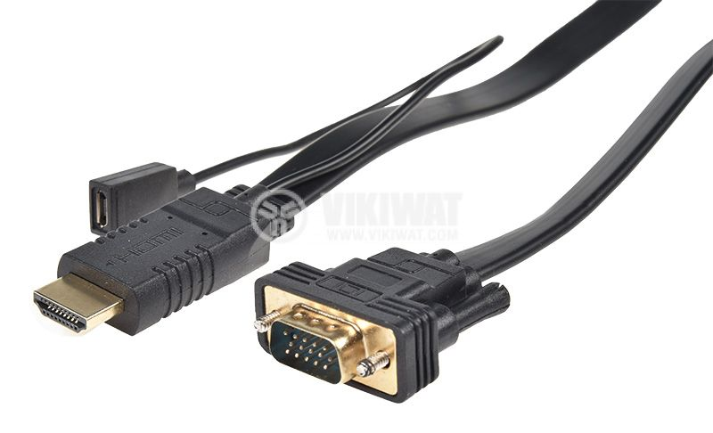 Кабел, HDMI/M-VGA/M, 1.8m - 1