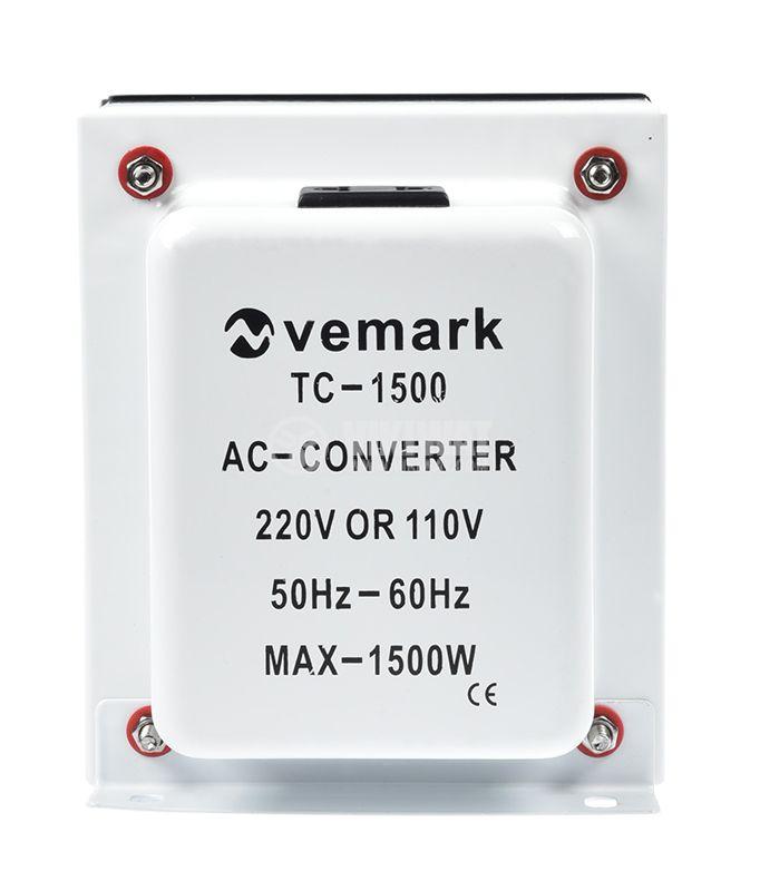 Converter, 1500W, 220VAC-110VAC, TC-1500 - 1