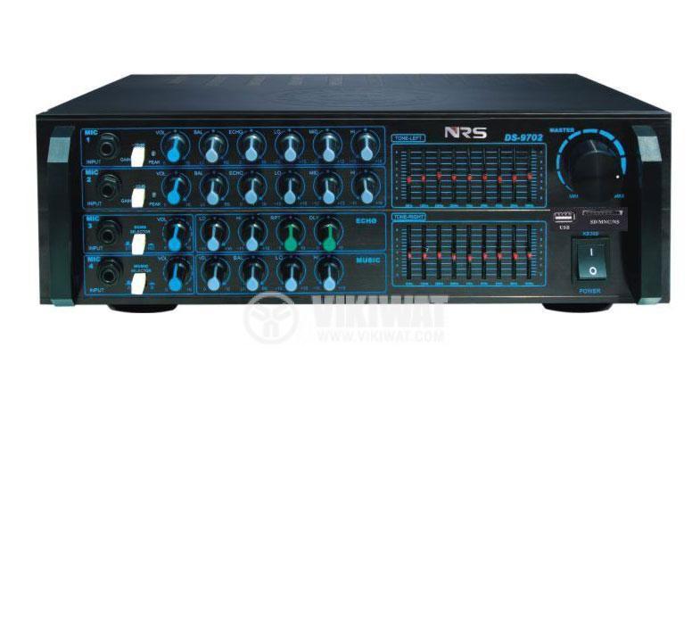 Дигитален усилвател + караоке, DS9702, 2x150W