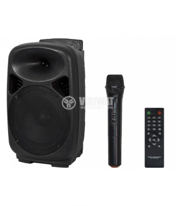 """Portable karaoke system AC-08UB, 8"""", 80W, Bluetooth, USB, mp3 - 1"""