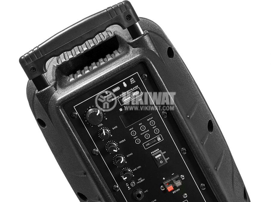 """Portable karaoke system AC-08UB, 8"""", 80W, Bluetooth, USB, mp3 - 2"""