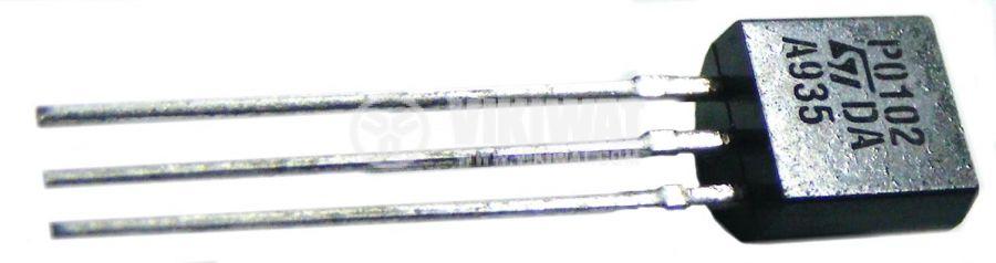 Тиристор тип SCR, модел  P0102, 200 V, 0.8 A