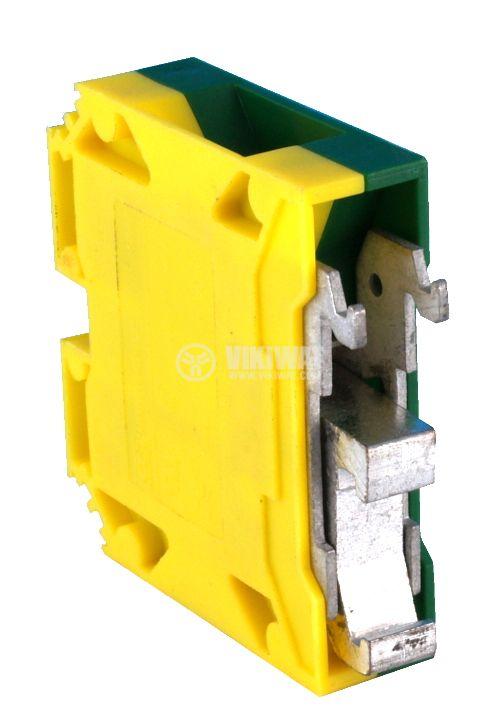 Редова клема, едноредова, G35, 35mm2, жълто-зелена, заземителна - 2