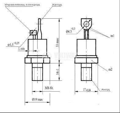 Тиристор T132-50-12, 1200 V, 50 A - 2