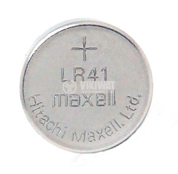 Button cell battery LR41 392A AG3 1.55VDC alkaline - 1