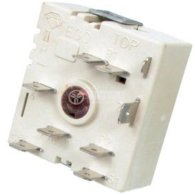 Ceramic plate switch, 50.55021.100, 2 positions, 7 contacts, 13A, 230VAC - 1