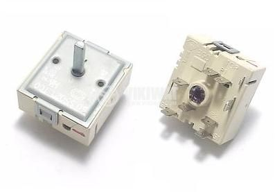 Ceramic plate switch, 50.55021.100, 2 positions, 7 contacts, 13A, 230VAC - 2