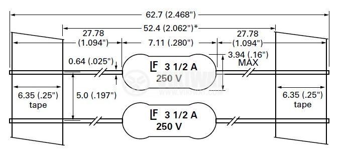 Ultra Fast Axial Fuse 1000 mA, 250 V - 4
