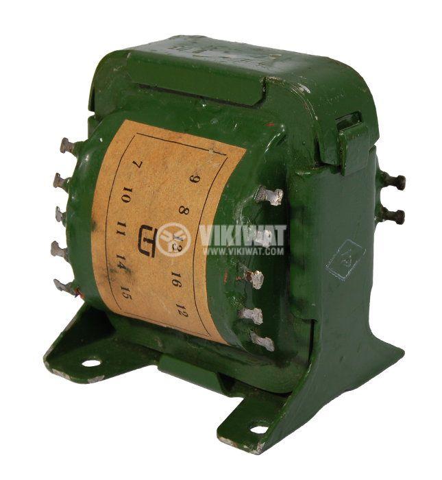 ПЛ трансформатор 46 VA, 220 / 2 х 7 + 2 х 5.5 + 1.5 VAC - 1