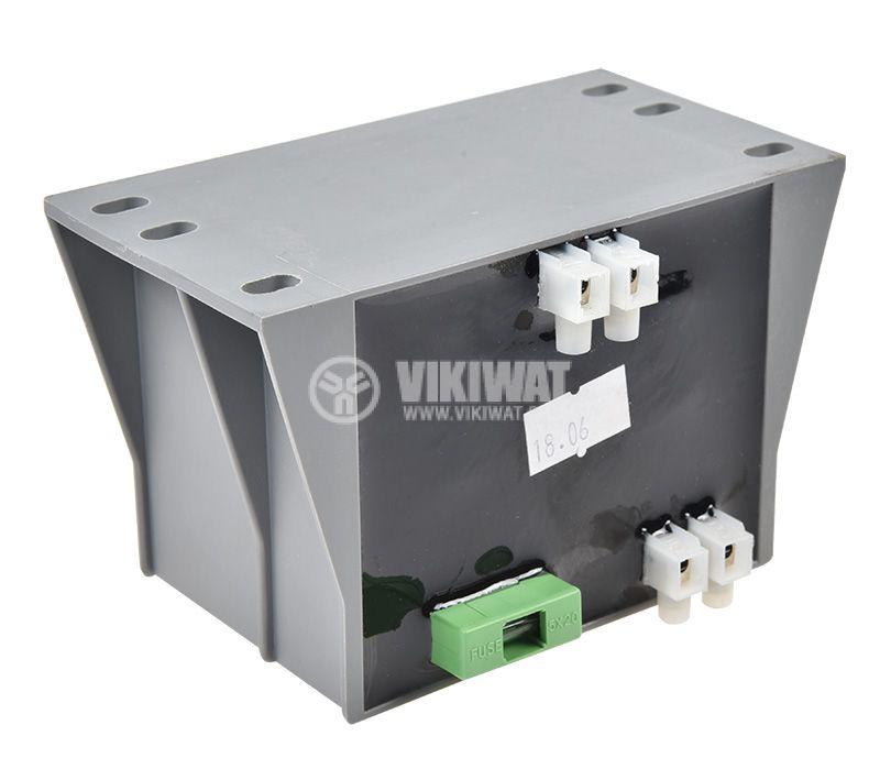 Трансформатор TMBZ 160/001M, 230/12VAC, 160VA, капсулован - 4