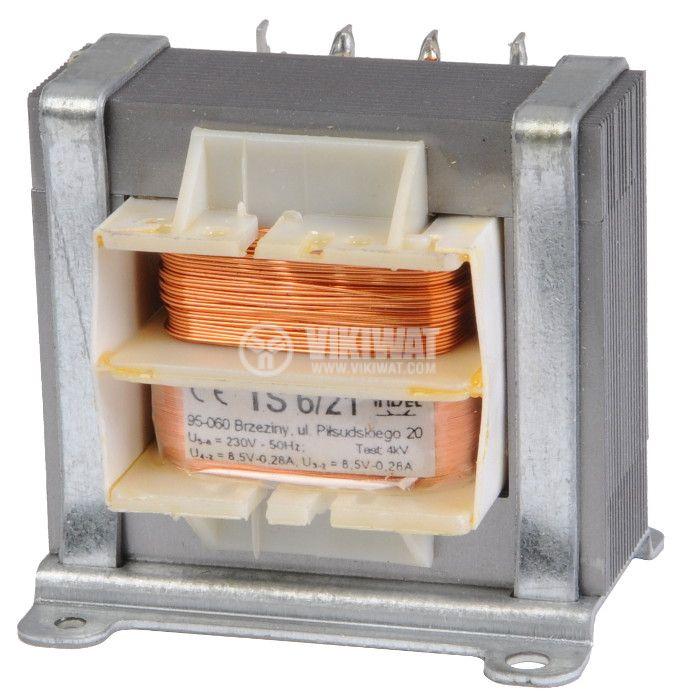 Трансформатор 230 VAC, 8.5+8.5 VAC, 2x0.28 A - 1