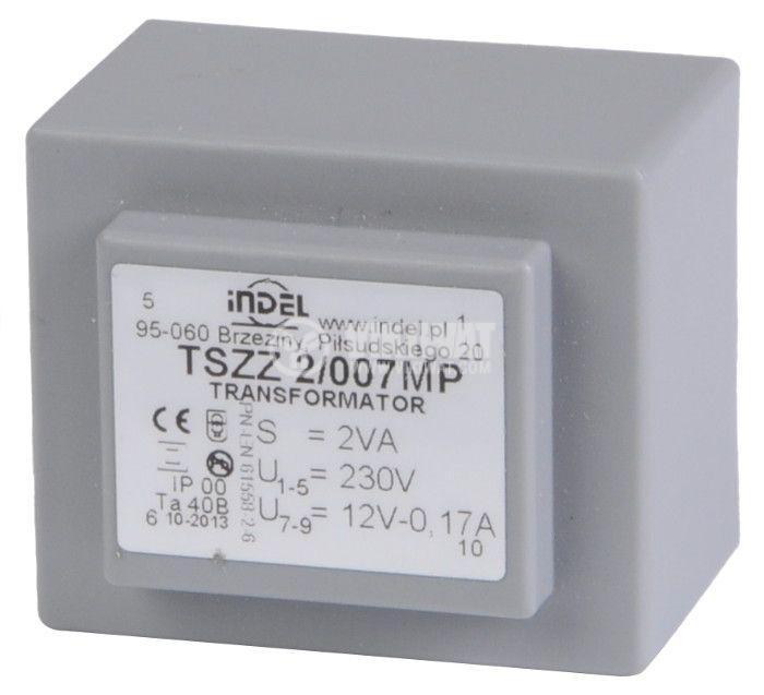Tрансформатор за печатен монтаж 12 VAC, 2 VA - 1