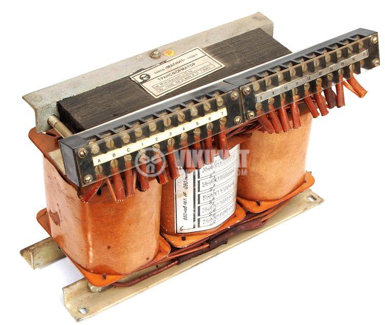 Ш - образен трифазен трансформатор 1000 VA, 380 / 17 + 27.5 + 7 + 10 + 10 VAC - 1