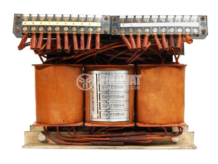 Ш - образен трифазен трансформатор 1000 VA, 380 / 17 + 27.5 + 7 + 10 + 10 VAC - 2
