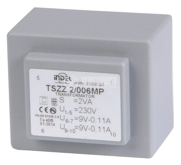 PCB Transformer 9+9 VAC, 2x1 VA - 1