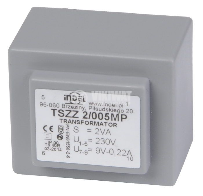 Tрансформатор за печатен монтаж 9 VAC, 2 VA - 1