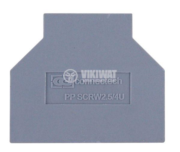 Капачка за редова клема 2.5/4 mm2, разделителна - 1