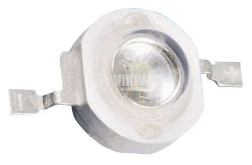 High power LED, 3 W, green, 520-525 nm, 105-120 lm - 1