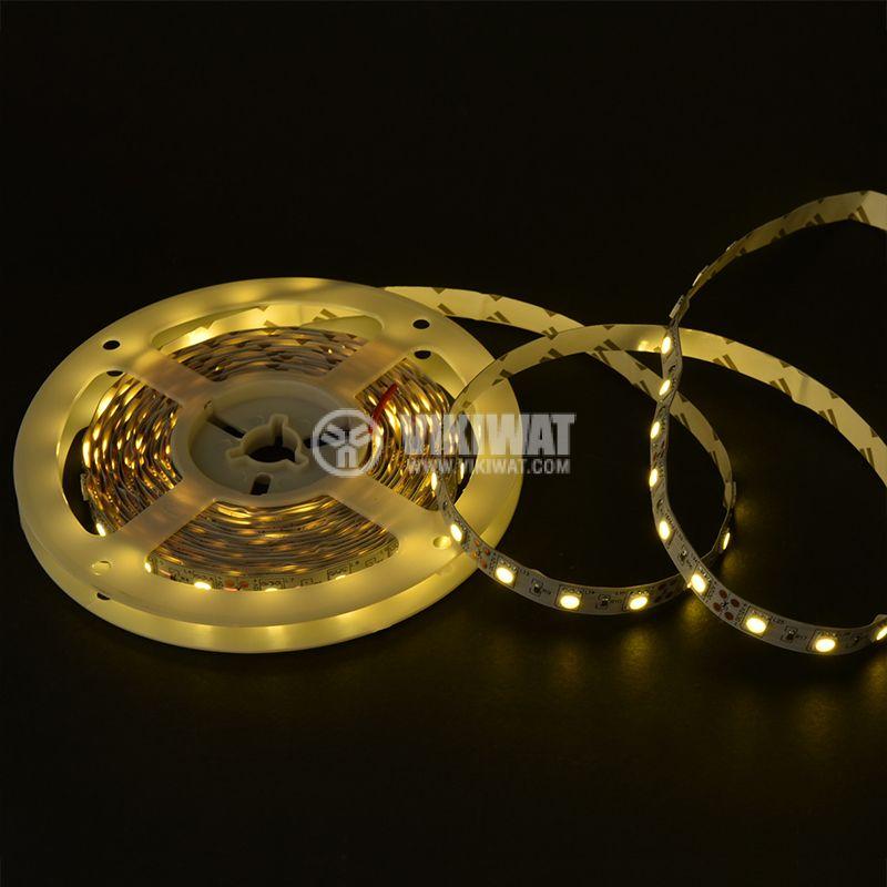 LED лента ECOLINE 5050, 60LED/m, 14.4W/m, 12VDC, IP20, невлагозащитена, топло бялa, BS01-00300 - 2