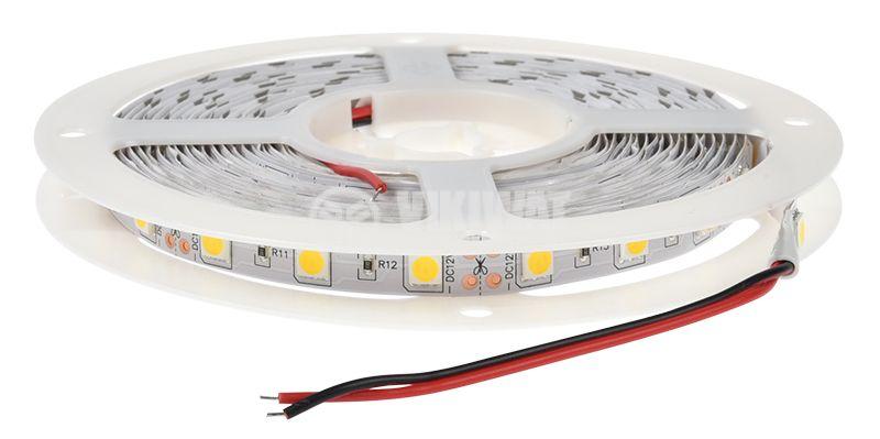 LED лента ECOLINE 5050, 60LED/m, 14.4W/m, 12VDC, IP20, невлагозащитена, топло бялa, BS01-00300 - 3
