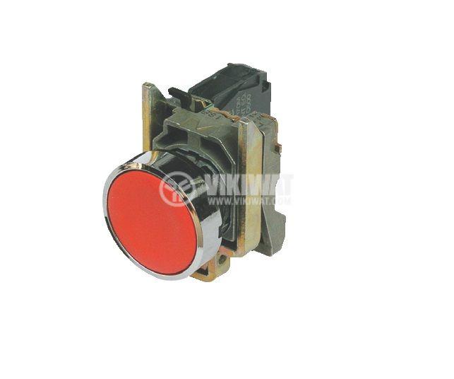 Button stop, XB4BA42, NC, 10A / 600V, red