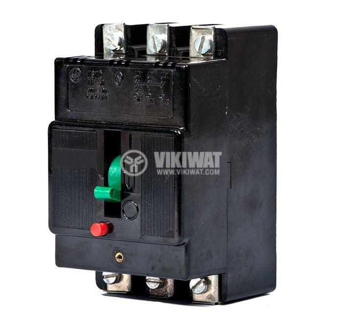 Автоматичен прекъсвач, J1K 50, 3P, 2.5 А, 500 V - 1