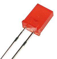 Светодиод MDE1532, 2x5 mm, правоъгълен, червен