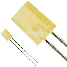 LED diode VQA34, 2x5 mm, rectangular, yellow, diffused