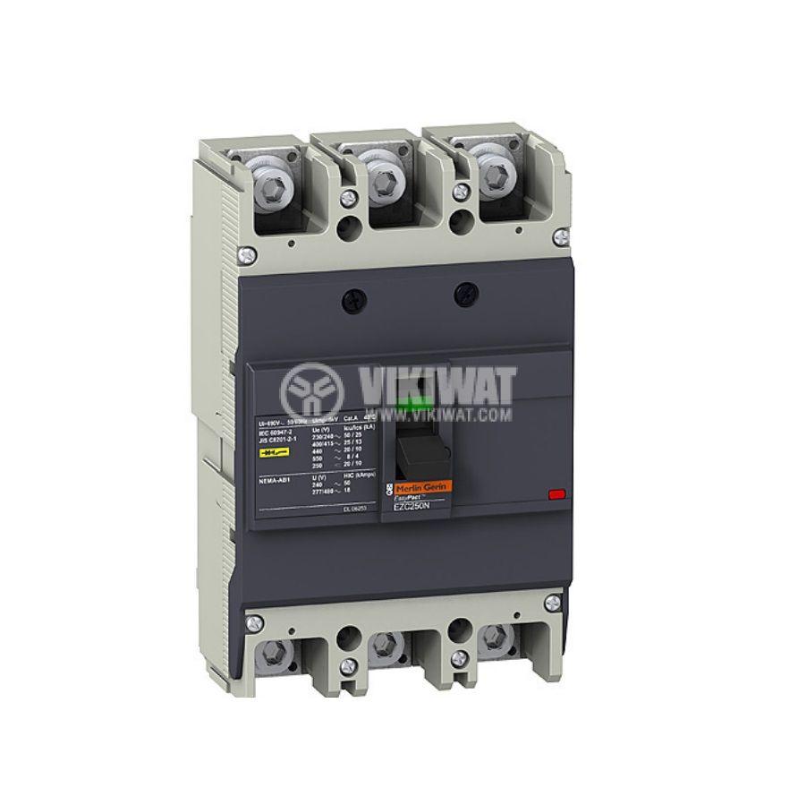 Automatic Circuit Breaker, EZC250N3125, 3P, 125А, 550VAC