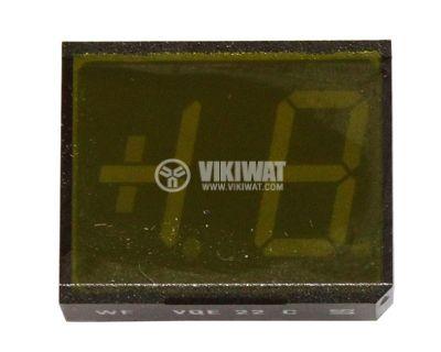 LED индикатор VQE22E Green/anode 24x20x9mm