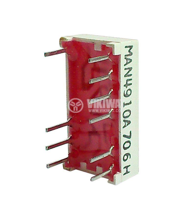 LED индикатор 7-сегментен MAN4910 9x19x4mm - 2