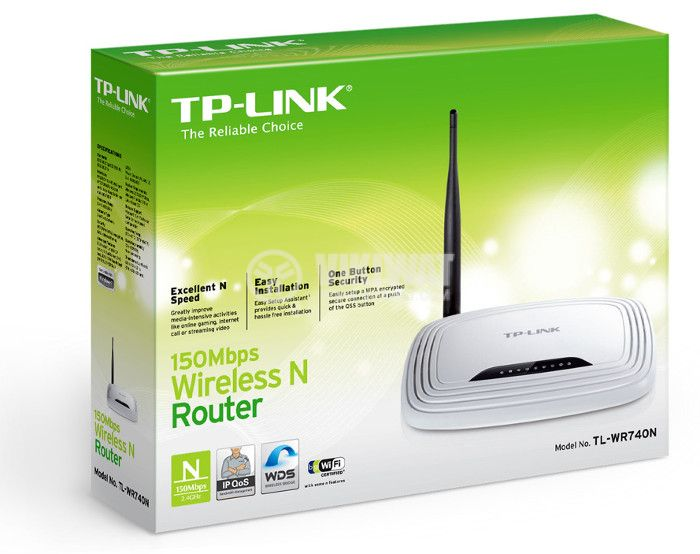 Wireless router TP-LINK, TL-WR740N, 150Mbps - 5