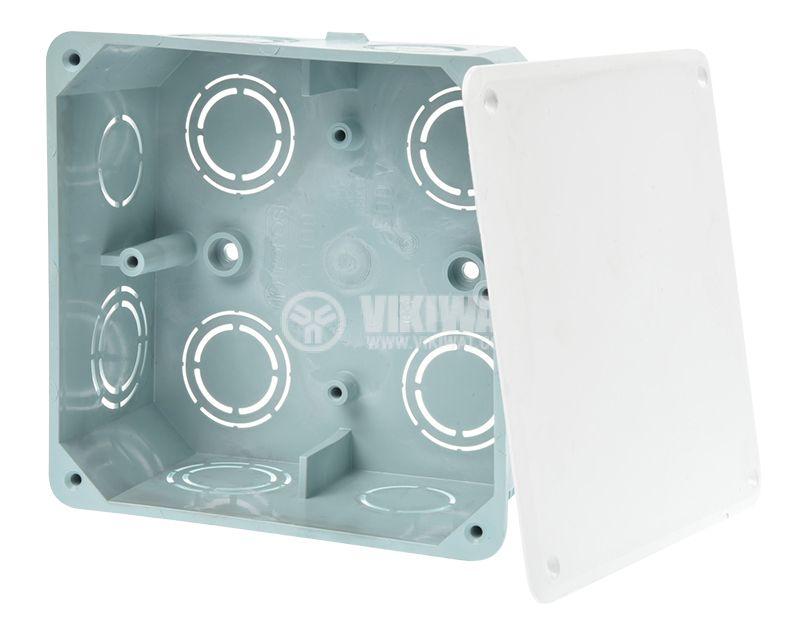 Разклонителна кутия KO 100, с капак, за вграждане в стени с мазилка - 1