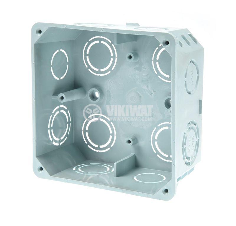 Разклонителна кутия KO 100, с капак, за вграждане в стени с мазилка - 2