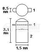 Фототранзистор SP211, SMD - 3