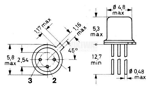 Светодиод TIL31, инфрачервен