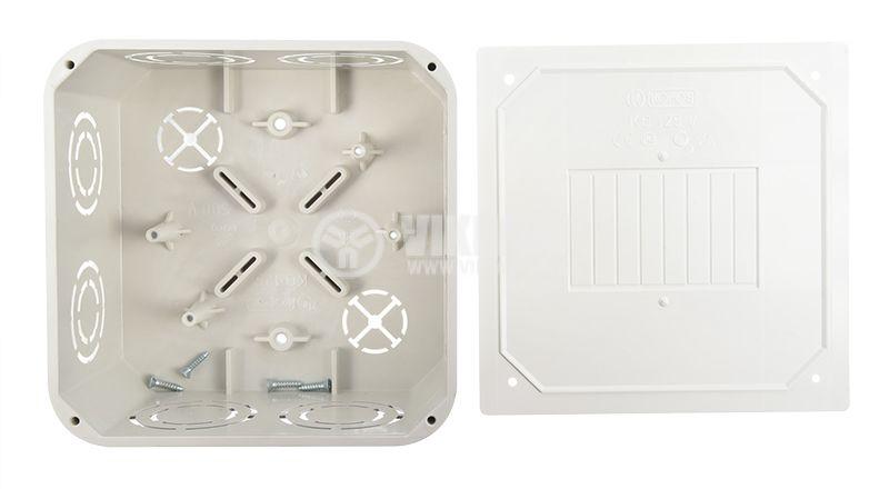 Разклонителна кутия KO 125, с капак, за вграждане в стени с мазилка - 2