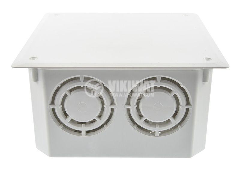 Разклонителна кутия KO 125, с капак, за вграждане в стени с мазилка - 3