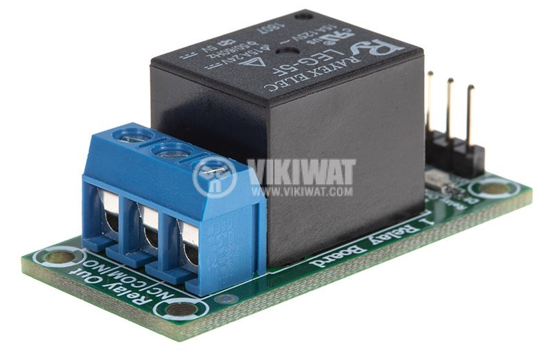 Relay board, 5VDC, 7A, 42x20mm, ON-OFF, NO-NC - 2