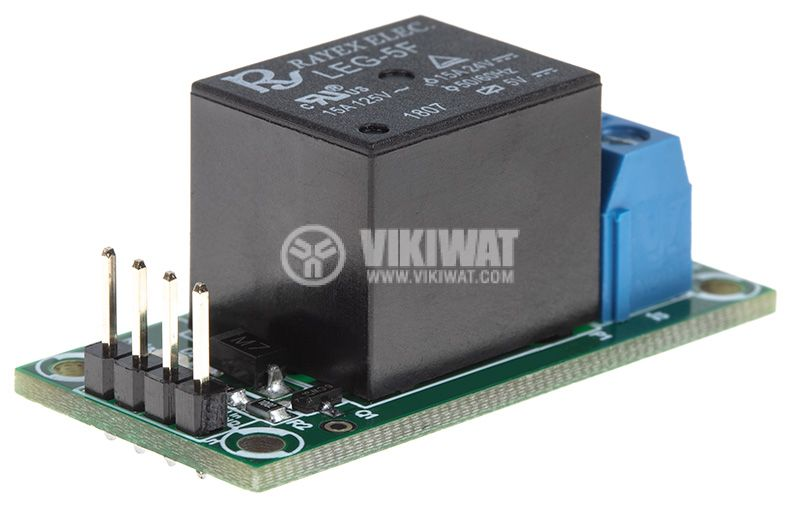 Relay board, 5VDC, 7A, 42x20mm, ON-OFF, NO-NC - 3