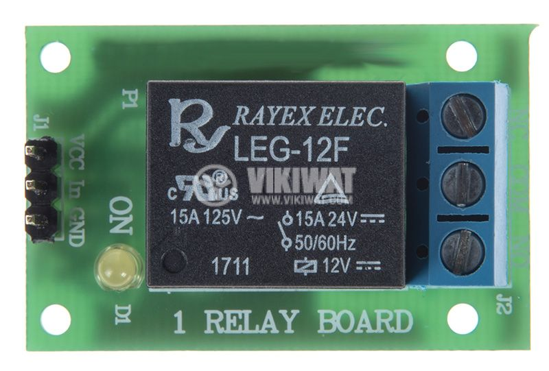 Relay board 12V 7A 40x25 ON-OFF NO-NC - 1