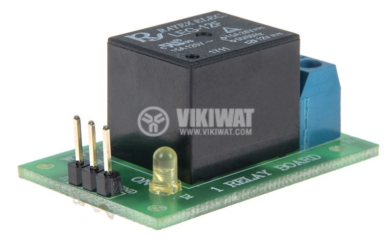 Relay board 12V 7A 40x25 ON-OFF NO-NC - 4