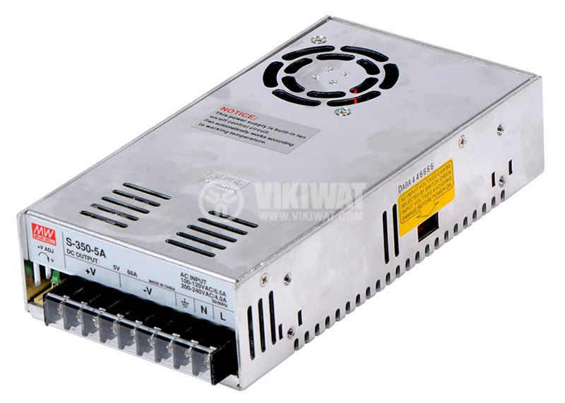 Switching power supply 5VDC, 60A, 300W, S-350-5 - 1