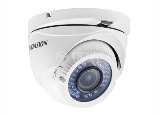HD-TVI vari-focal IR turret camera, HD720Р, IP66, 1.3MP, 1280x720px, HIKVISION