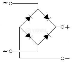 Грец схема 1.5 A/200 V, W02M - 2