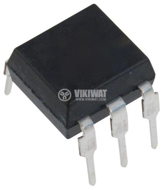 Оптрон 4N26, транзисторен изход, 1 канал, DIP6