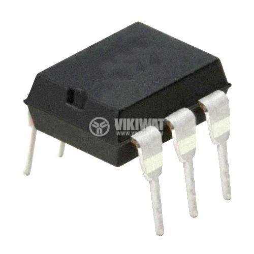 Оптрон 4N33, дарлингтон транзисторен изход, 1 канал, DIP6