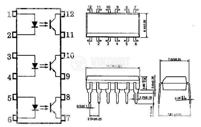 Оптрон  TLP521-3