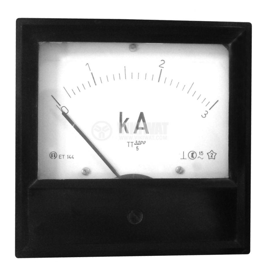 Aмперметър ET144, 3 kA, AC, с външен токов трансформатор