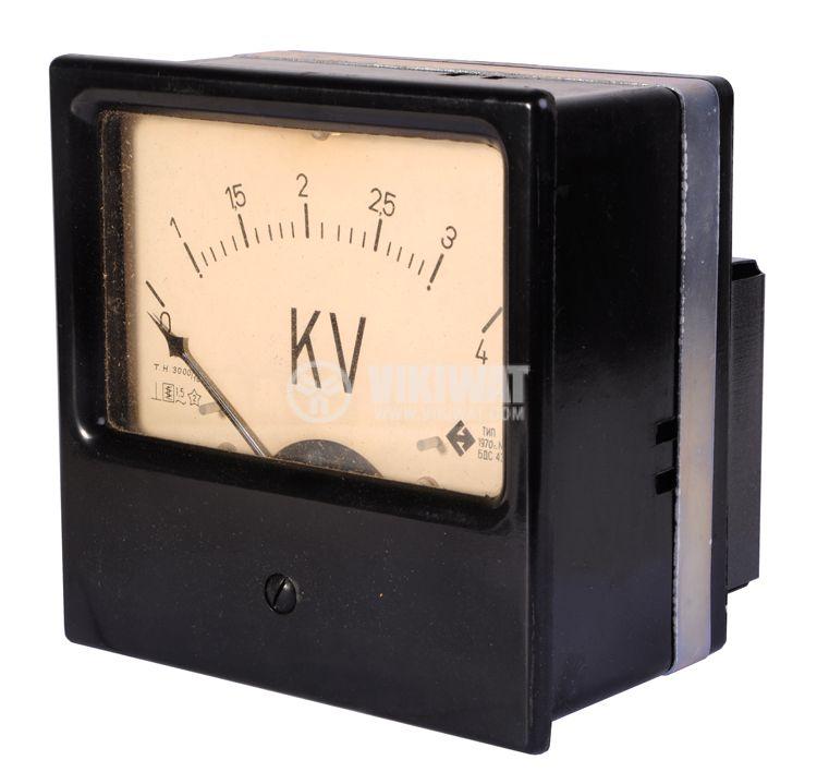 Волтметър, 0/1-3/4 kVAC, външен НТ 3000/100, 1Е52,  144x144 mm